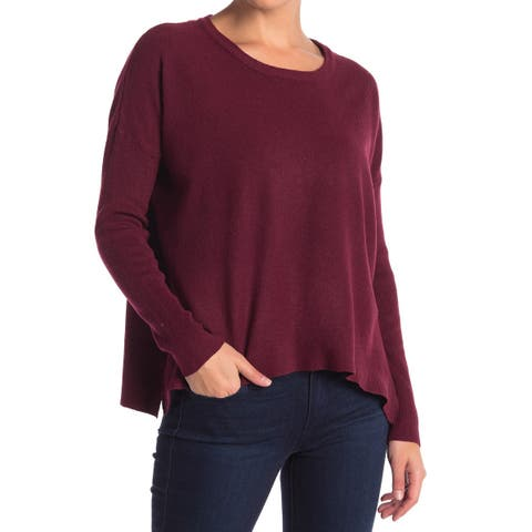 Sweet Romeo Burgundy Red Womens Size Small S Scoop Neck Sweater