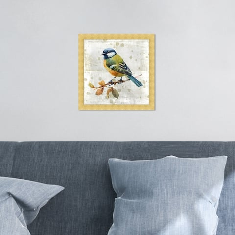 Oliver Gal 'Blue Bird' Animals Wall Art Framed Print Birds - Blue, White