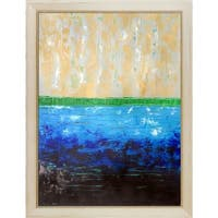 Lisa Carney 'Pearl Ocean' Hand Painted Oil Reproduction