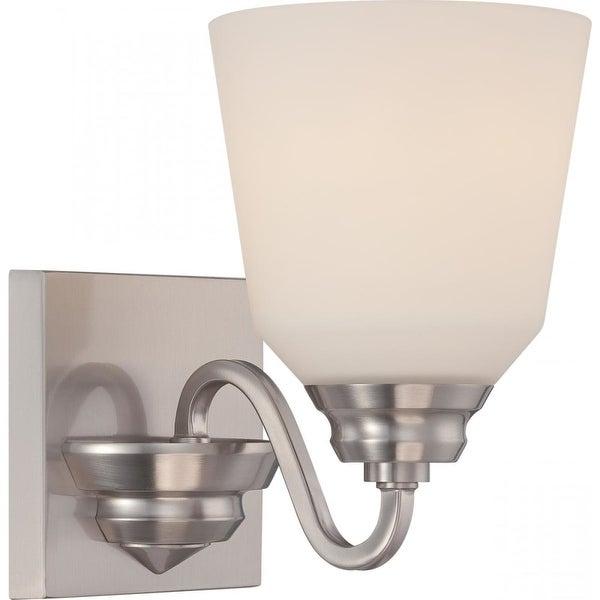 Nuvo Lighting 62/366 Calvin 1 Light LED Energy Star Bathroom Sconce - Brushed nickel