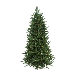 7.5' Pre-Lit Mixed Pine Multi-Function Remote Control Artificial Christmas Tree - Multi-Color Lights - Green