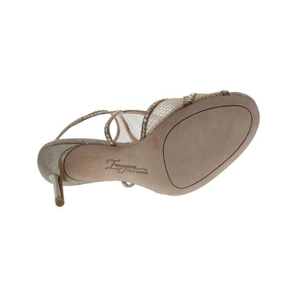 Imagine Vince Camuto Womens Pember Evening Heels Metallic Embellished - 6 medium (b,m)