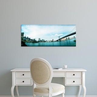 Easy Art Prints Panoramic Images's 'Brooklyn bridge, Manhattan Bridge, East River, Brooklyn, New York City' Canvas Art