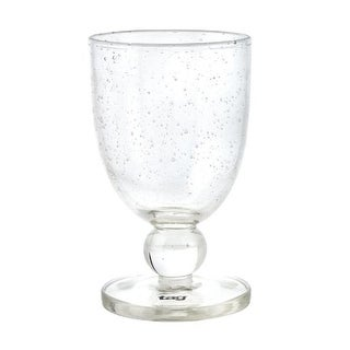 Tag 550287 10 oz Bubble Glass Goblet Clear - pack of 6