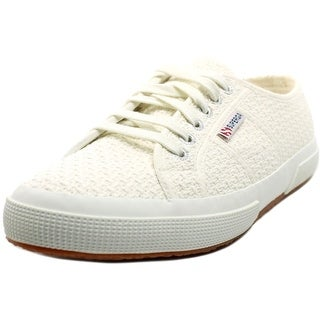 Superga Crochet Women Round Toe Canvas White Sneakers