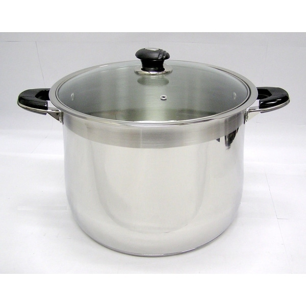 20 Qt Stainless Steel Tri-Ply Clad Heavy Duty Gourmet Stock Pot. Opens flyout.