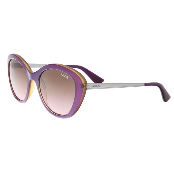 1f19f3dc9 Shop Vogue VO2870S 226814 Purple/Silver Round Sunglasses - 52-19-135 ...