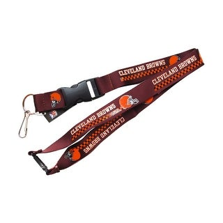 Cleveland Browns Clip Lanyard Keychain Id Holder Brown