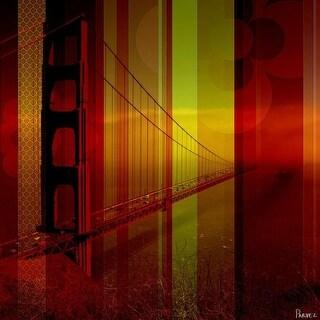 Parvez Taj Golden Gate 2 Art Print on Premium Canvas