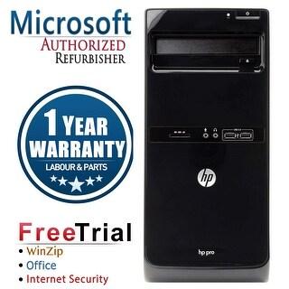 Refurbished HP Pro 3500 Tower Intel Core I5 3470 3.2G 4G DDR3 250G DVD WIN 10 Pro 64 1 Year Warranty - Black