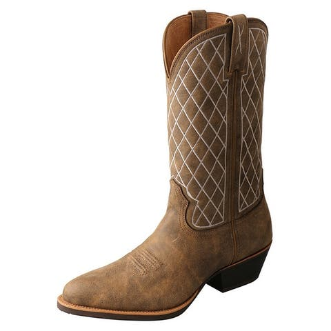 """Twisted X Western Boots Mens R Toe 13"""" Shaft Pull On Bomber"""