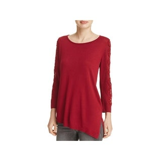 Love Scarlett Womens Casual Top Asymmetrical Scoop