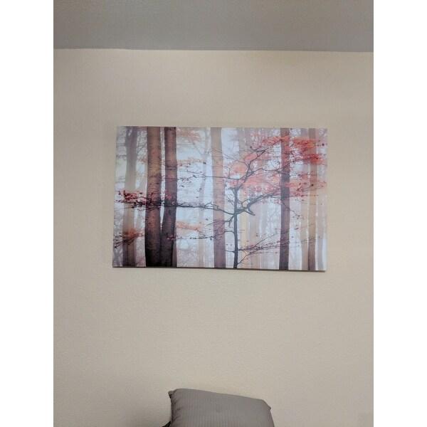 Shop \'Orange Awakening\' Gallery-wrapped Canvas Wall Art - On Sale ...