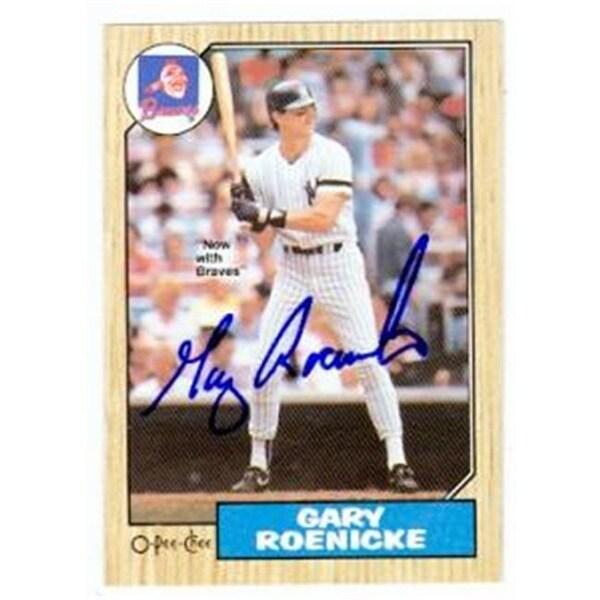 Gary Roenicke Autographed Baseball Card New York Yankees Atlanta