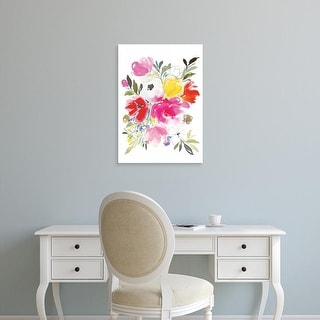 Easy Art Prints Joy Ting's 'Pink Expression' Premium Canvas Art