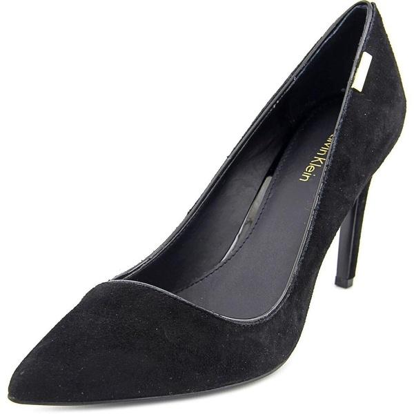 Calvin Klein Calida Women Pointed Toe Suede Heels