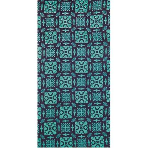 Batik Blue 30x60 Brazilian Velour Beach Towel