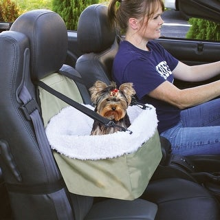 Pet Booster Car Seat - Cat Dog Auto Travel Safety - Lined for Comfort