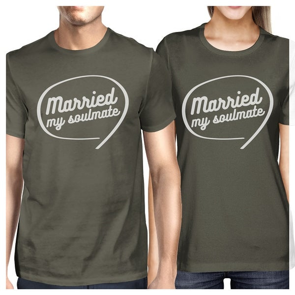 6f0c7592cc Shop Married My Soulmate Dark Grey Matching Couple Shirts Newlyweds Gift -  On Sale - Free Shipping On Orders Over $45 - Overstock - 23108526