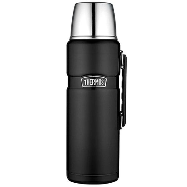 Thermos 2-liter Stainless King Vacuum Insulated Beverage Bottle - Matte Black - MATTE BLACK