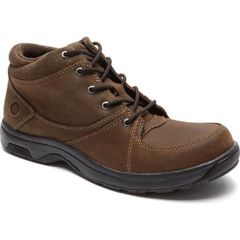 Dunham Men's Addison Lace-Up Boot Dark Brown Leather