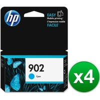 HP 902 Cyan Original Ink Cartridge (T6L86AN)(4-Pack)