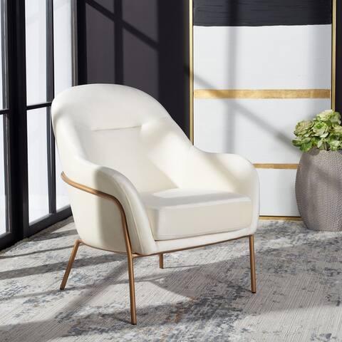 """Safavieh Eleazer Glam Velvet Accent Chair - 26.3"""" W x 31.8"""" L x 34"""" H"""