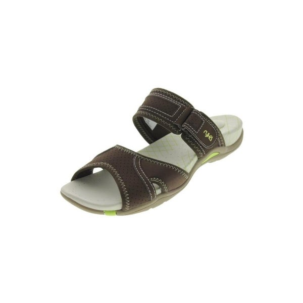 Ryka Womens Essence Slide Sandals Contrast Stitch Signature