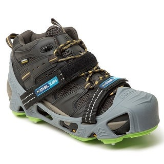 STABILicers Hike XP Removable Snow & Ice Traction Job Safety Cleats - Gray/Green