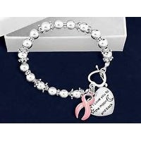 Pink Cancer Ribbon Awareness Bracelet I Love you to the Moon and Back