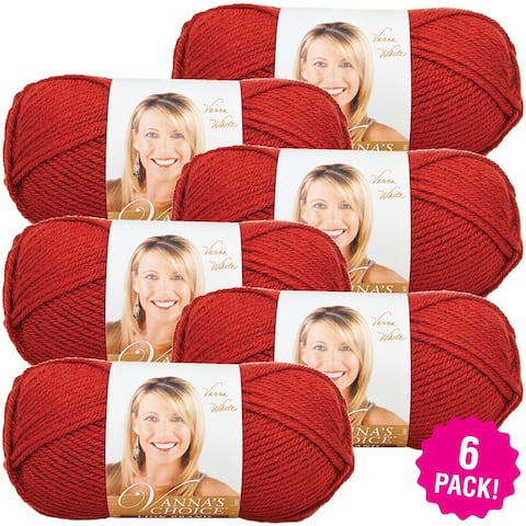 Lion Brand Vanna's Choice Yarn 6/Pk-Brick - Red