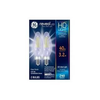 GE 92333 Reveal HD LED Light Bulb, Clear, 3.2 Watts