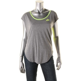 Nike Womens Mesh Inset Short Sleeves Pullover Top
