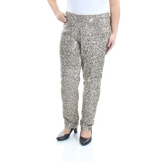 RALPH LAUREN $398 Womens New 1289 Gold Sequined Party Pants 16 B+B