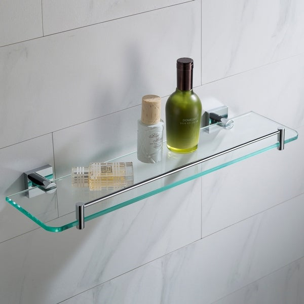 "Kraus KEA-17745 Ventus 18"" Glass Bathroom Shelf. Opens flyout."