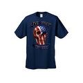 Men's T-Shirt USA Flag Skull Live Free Or Die Stars & Stripes Skeleton Bones Tee - Thumbnail 3