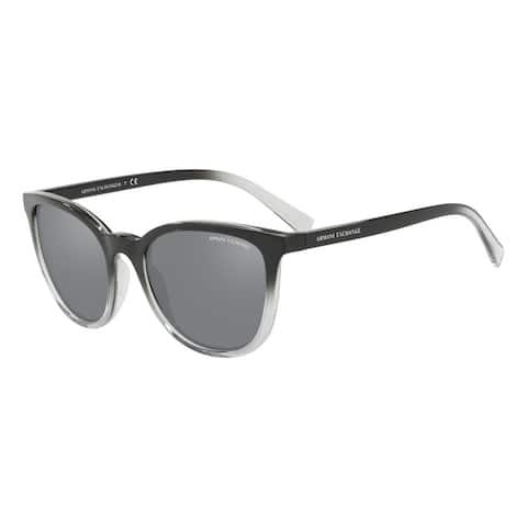 Armani Exchange AX4077SF 82556G 56 Black/transparent Smoke Woman Pillow Sunglasses