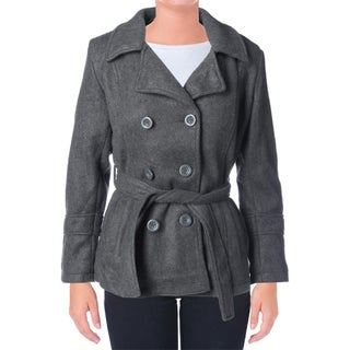YMI Womens Juniors Pea Coat Faux Wool Double Breasted (4 options available)