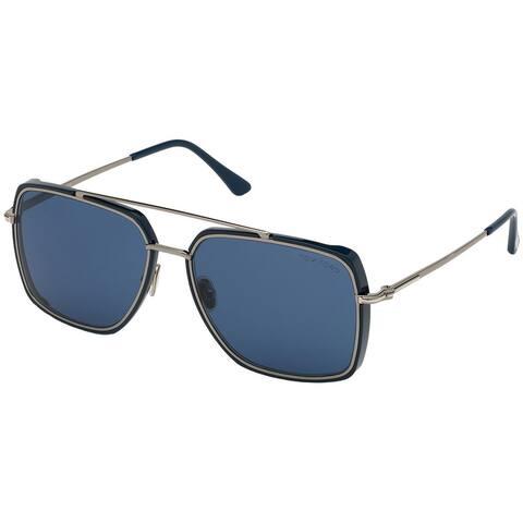 Tom Ford FT0750-F 90V Blue Rectangle Lionel Sunglasses - 62-15-145