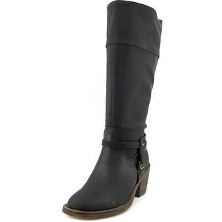 XOXO Marisa Wide Calf Women Square Toe Synthetic Knee High Boot