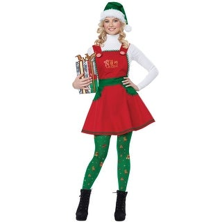 California Costumes Elf in Charge Adult Costume - Red/Green