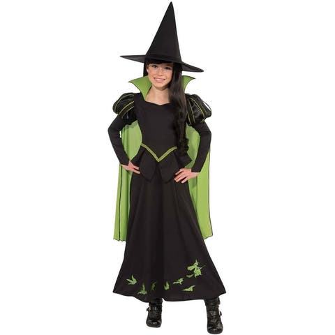 The Wizard Of Oz Wicked Witch Of The West Costume Child - Black
