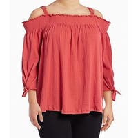 Jessica Simpson Spiced Coral Pink Womens Size 2X Plus Knit Top