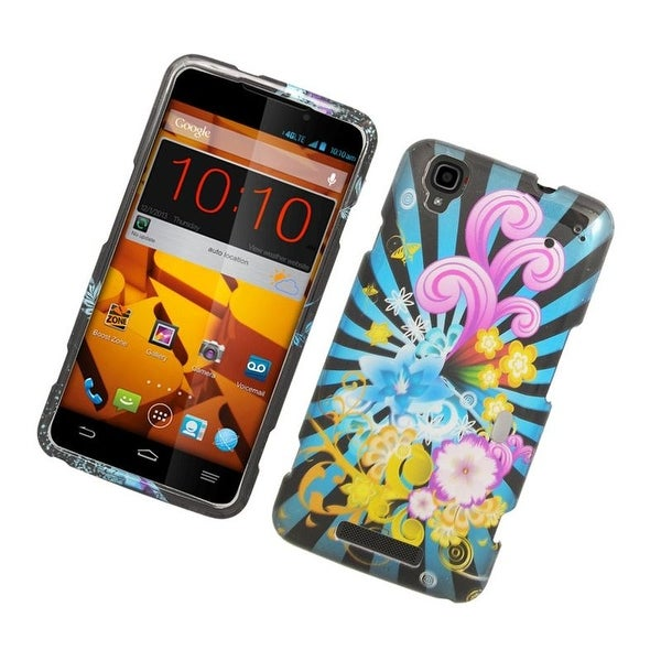 Insten Colorful Fireworks Hard Snap-on Rubberized Matte Case Cover For ZTE Max