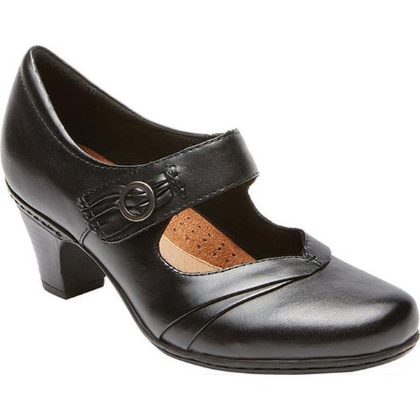 Rockport Women's Cobb Hill Salma Black Full Grain Leather