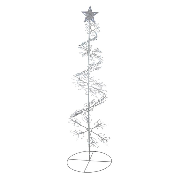 Shop 6' Cool White LED Lighted Outdoor Meteor Effect Snowflake Hoop Christmas Tree Outdoor Decoration - N/A - Free Shipping Today - Overstock - 16545576