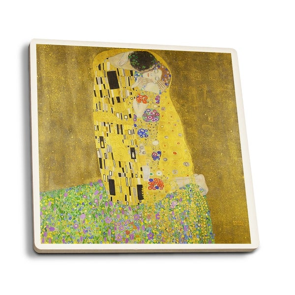 The Kiss - Klimt 1908 - Masterpiece Classic (Set of 4 Ceramic Coasters)
