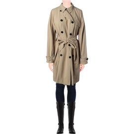 Ralph Lauren Womens Long Sleeves Button Front Trench Coat - L