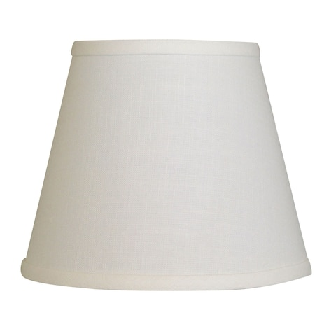 Cloth & Wire Slant Empire Hardback Lampshade with Bulb Clip, Beige