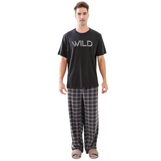 Richie House Men's Knit Two-piece Pajama Sleepwear Set